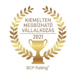 Kiemelten megbízható vállalkozás - 2021 - logó
